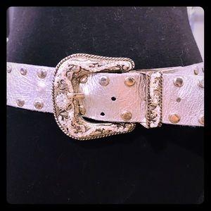 Leatherock silver embellished belt